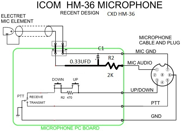 HM36_MIC_MOD boatanchors icom hm-152 microphone wiring diagram at couponss.co